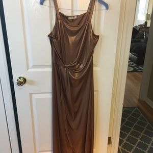 Halston Heritage copper dress